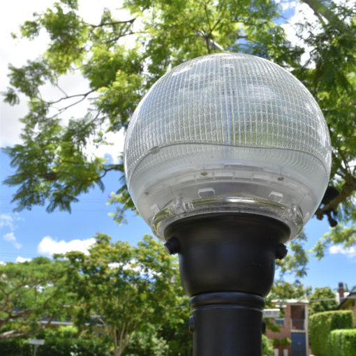 Buy solar footpath light online today from BlackFrog Solar. The attractive and functional globe light head has great street appeal and will compliment any garden or path.