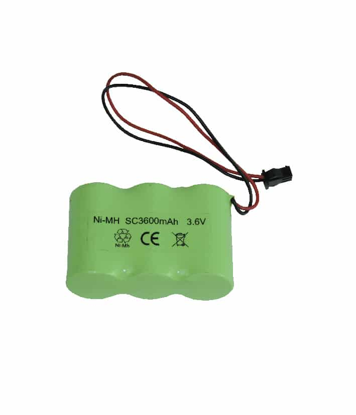 Rechargeable Battery Pack: 3.6V 3600mA Ni-MH