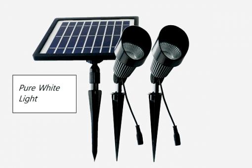Buy high quality cast aluminium and glass solar garden spot lights online today. BlackFrog Solar are a leading supplier of quality solar garden lighting