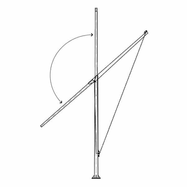 Buy six metre high tilt pole for solar lights online today from BlackFrog Solar