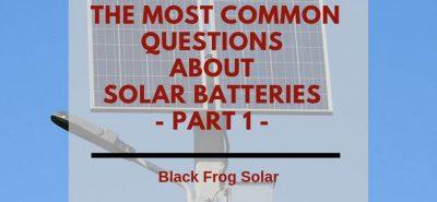 solar batteries part one