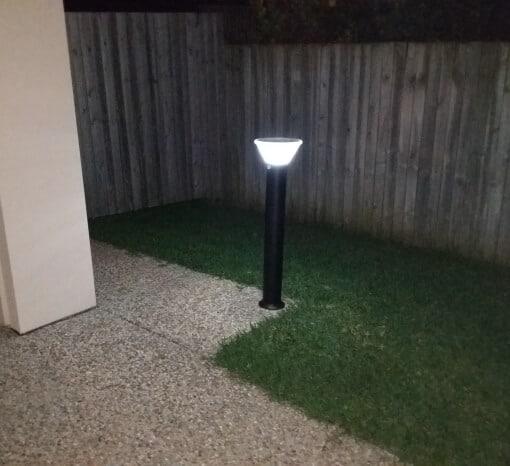 Solar Bollard Light outside