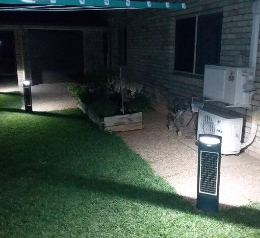 Solar Led Pillar Light backyard