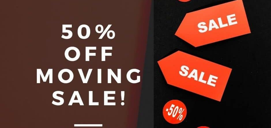 half off all stock sale