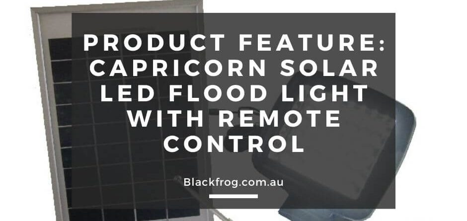 Product Feature Capricorn Solar LED Flood Light with Remote Control