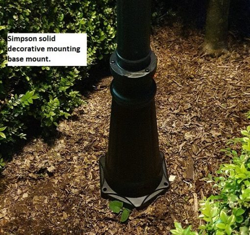 Simpson Solar Post Lamp mounting