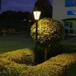 Simpson Solar Post Lamp night image