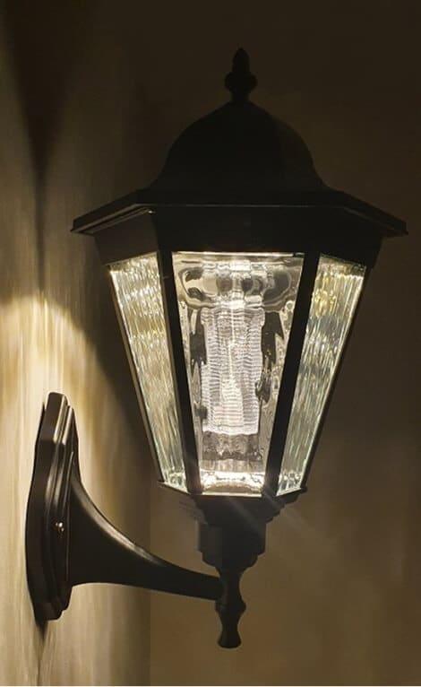 Simpson Solar Wall Lamp close up image